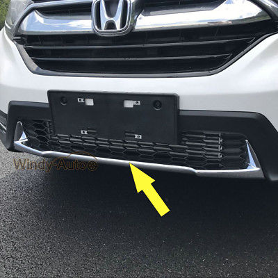 Fit For Honda CRV CR-V 2017 2018 Front Grill Bumper Cover Trim Protector Chrome соединитель gardena 02762 20 25мм х 1
