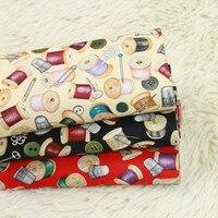 Полуярд тонкая хлопковая ткань с японской иглой с принтом ручной работы DIY рот золотой пакет швейное изделие для сумки ткань 100% хлопок