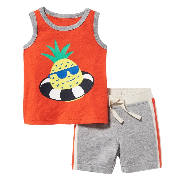 Kids Shorts Suits Casual Kids Clothes Tracksuit 2018 Summer Baby Boy Clothes Cartoon Patterns Costume for Boys Clothing Sets 1