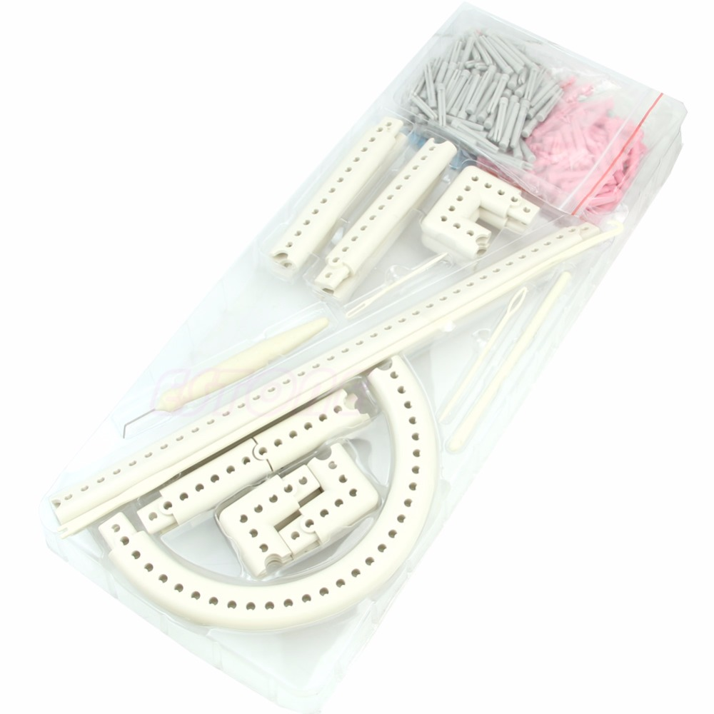 5000-100 Multi-function Craft Yarn Knitting Board Knit & Weave Loom Kit DIY Tool цена и фото