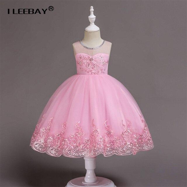 2018 Girls Wedding Dress Tulle Halloween Costume Formal Fancy Frocks Elegant  Evening Vestidos Infantil Teenager Girls Dresses d245355e9bee