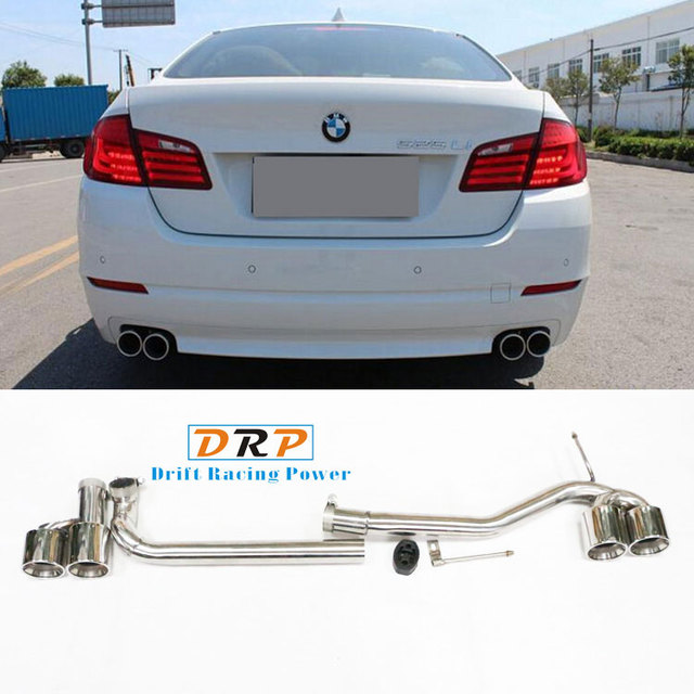 US $180 0 |Hot selling 1 to 2 Modified Car Exhaust Muffler pipe tail throat  for B*W 5 series F18,F10,520,525,530LI (fit the original car)-in Mufflers