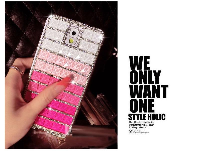 Dower Me DIY роскошные градиент Цвет горный хрусталь diamond чехол для Samsung Galaxy S5/4/3 мини Примечание 5 4 3 2 S8 S7 S6 Edge Plus