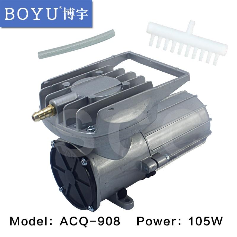 BOYU electromagnetic DC vehicle oxygen pump 105W pump DC 12V Elemental O2 Air Pump Aquarium Pond