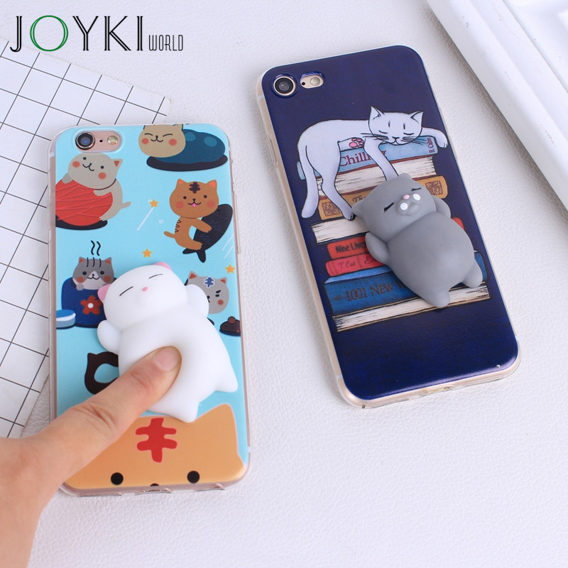 3D <font><b>Squishy</b></font> <font><b>Phone</b></font> <font><b>Case</b></font> For <font><b>iPhone</b></font> 6 6S Soft Silicone for <font><b>iphone</b></font> 7 Plus 5 <font><b>5S</b></font> SE Cute Animal Polar Bear Back Cover Candy color