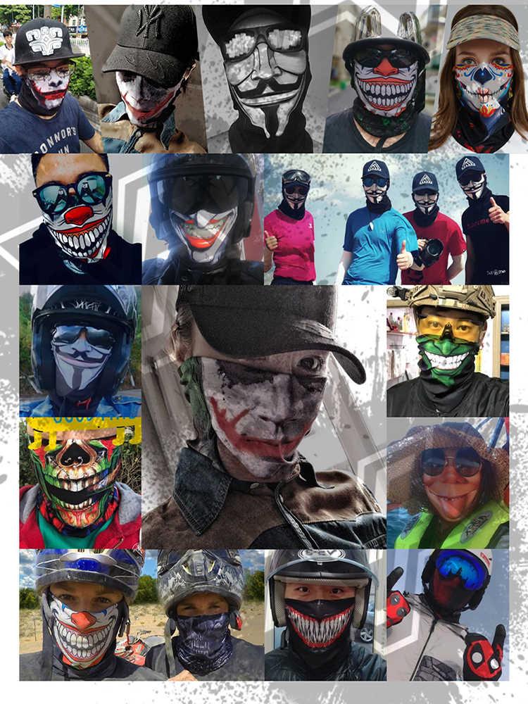 3D Motorbike Ciclismo Máscara Facial A Maravilha Deadpool Flashman Tatuagem No Pescoço Gaiter Bandana Sem Costura Tubo Ironman Venom Ski Balaclava
