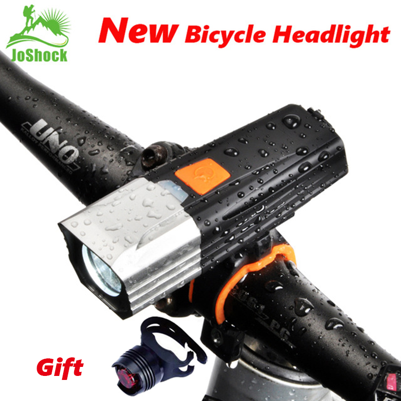 JOSHOCK Mountain Bike Headlights USB Charging LED lights Night Riding Highlights Waterproof Aluminum bicycle Light