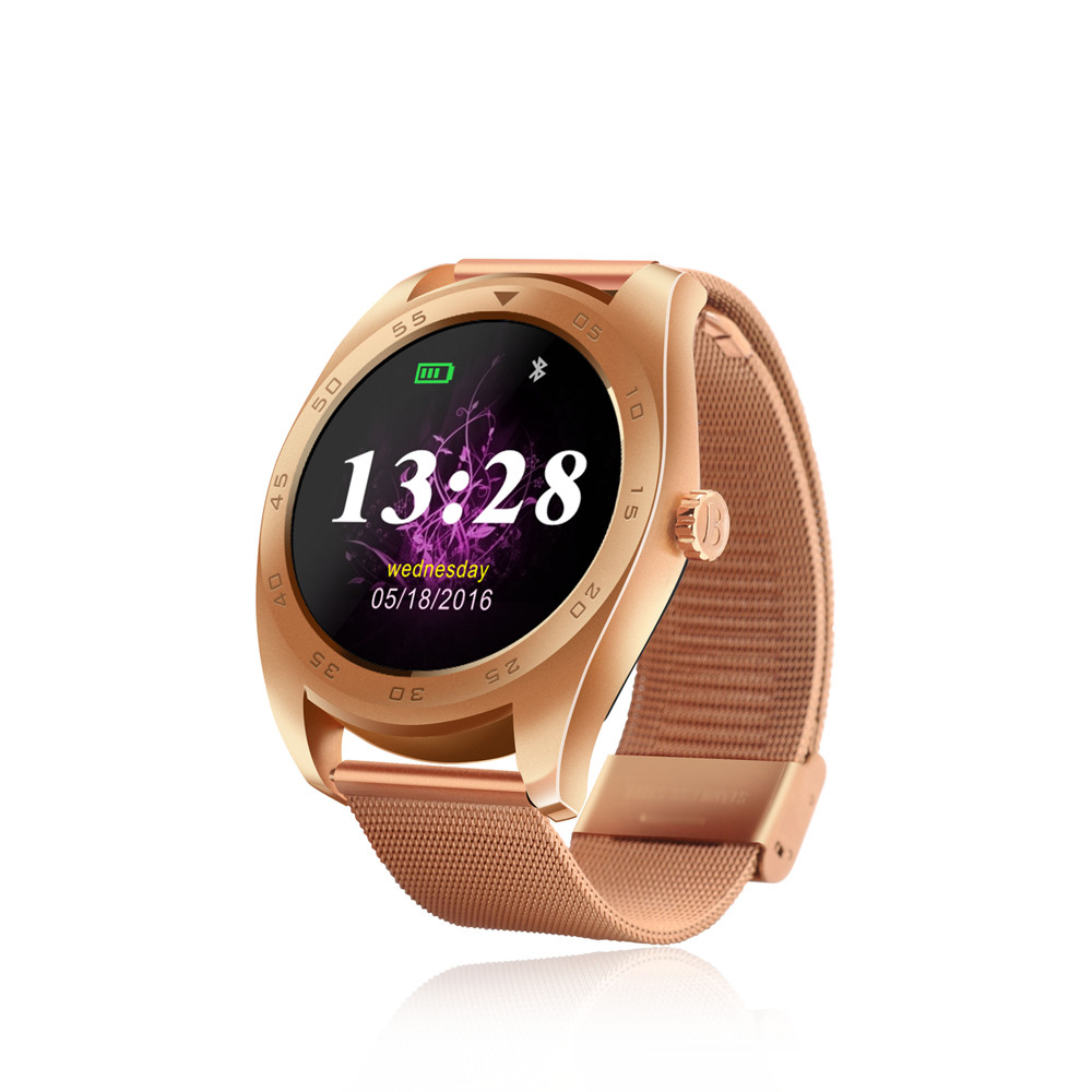 ФОТО Hot Round Screen Bluetooth Smart Watch K89 Heart Rate Monitor Sport Smartwatch Passometer Waterproof Watch Support IOS & Android
