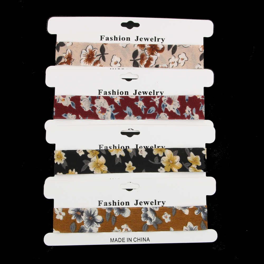 Vintage 4 adet/takım Çiçek Dantel Gerdanlık Seti Goth Vintage Chocker Kadife Chokers Kolye Kadın Yaka moda takı Collier Femme