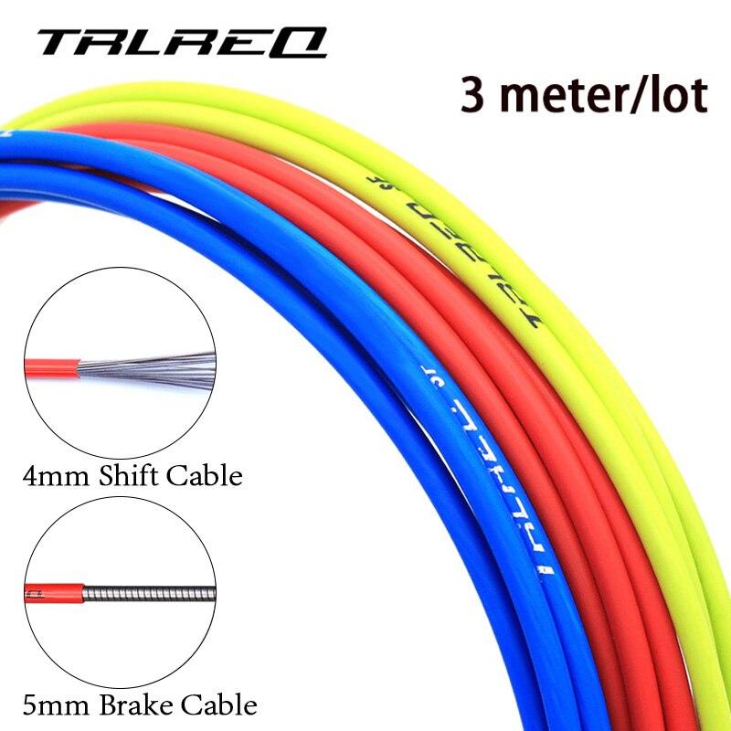 3 mètres vélo vélo frein/décalage câble logement pour 4mm/5mm vtt vélo de route dérailleur câble de frein tuyau accessoires de cyclisme