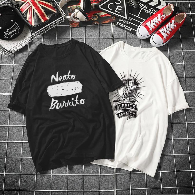 Neato Burrito Harajuku Tshirt Women Cotton 2019 Summer Funny T-shirt Female Short Sleeve Plus Size White T Shirt Tumblr Top Tees