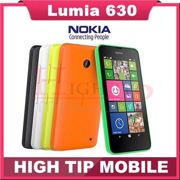 """Мобильный телефон Nokia, двойной Sim телефон отремонтированный Lumia 630 windows , телефон 8.1 Snapdragon 400 четырёхъядерный 4,5 """" экран 3 G"""