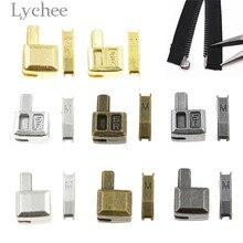 Lychee 10 наборов металлические ремонтные молнии стопор открытый конец молнии стопор DIY Швейные молнии аксессуары для одежды