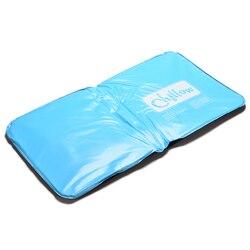 1 Stück Eis Kalt Kühlen Gel Hypoalergentic ungiftig Hilfe Pad Muscle Relief Schlafmatte Reisekissen Hals wasser Blau
