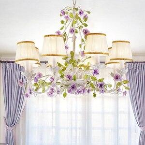 Image 4 - Luxus Rustikalen Ländlichen Europäischen Garten Blatt Blume Hotel Lobby Schlafzimmer Kronleuchter Tropfen Lichter Beleuchtung Für Sitzen Wohnzimmer