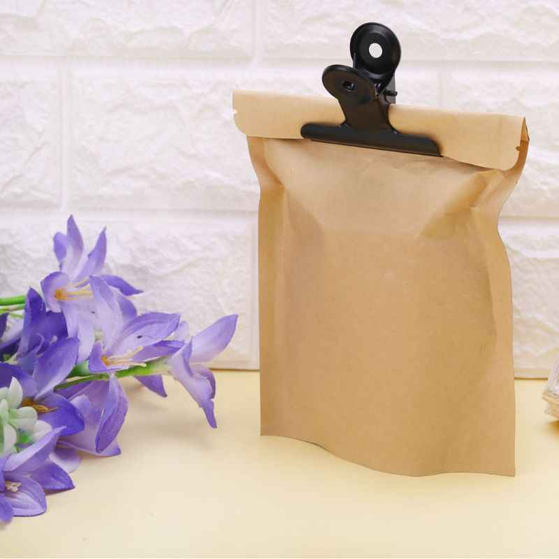 5 Pcs Bulldog Letter Clips Stainless Steel Black Metal Paper File Binder Clip Stationary Office Kitchen Food Storage Bag Clips