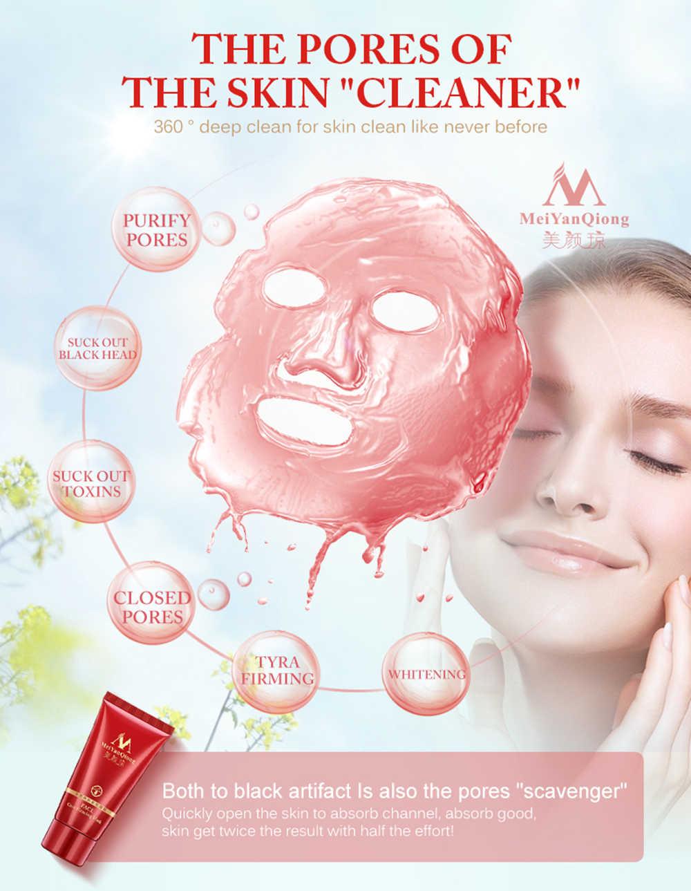Frutas Creme de Limpeza Profunda Purificação Descolar Lama Máscara Facial Remover Máscara Facial Cravo Nariz Removedor de Acne Encolher Poros TSLM2