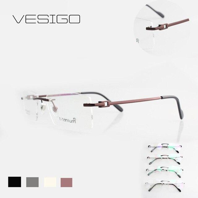 7c5a30c51eb rimless glasses wide spectacle square eyeglasses frames reading titanium  glasses prescription lens optical frame men V3139988