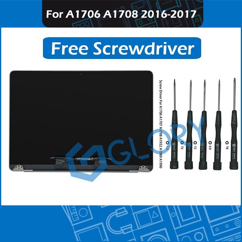 Nuevo A1706 A1708 LCD 661-05324, 661-07971, 661-05323, 661-07970 para Macbook Pro Retina 13 Pantalla de reemplazo 2016 de 2017