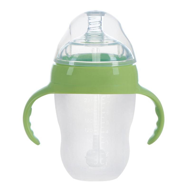 Mamadeira BPA Free baby feeding bottle Safe silicone Infant Juice Milk Water Feeding Bottle cup 3 size baby milk bottle B5