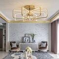 Хромированная большая светодиодная люстра с золотым покрытием  современная светодиодная Люстра для гостиной  столовой  спальни  кухни  нов...