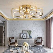 Chrome Gold plating Large Led Chandelier Modern Lighting For Living room Dining Bedroom Kitchen 2018 new