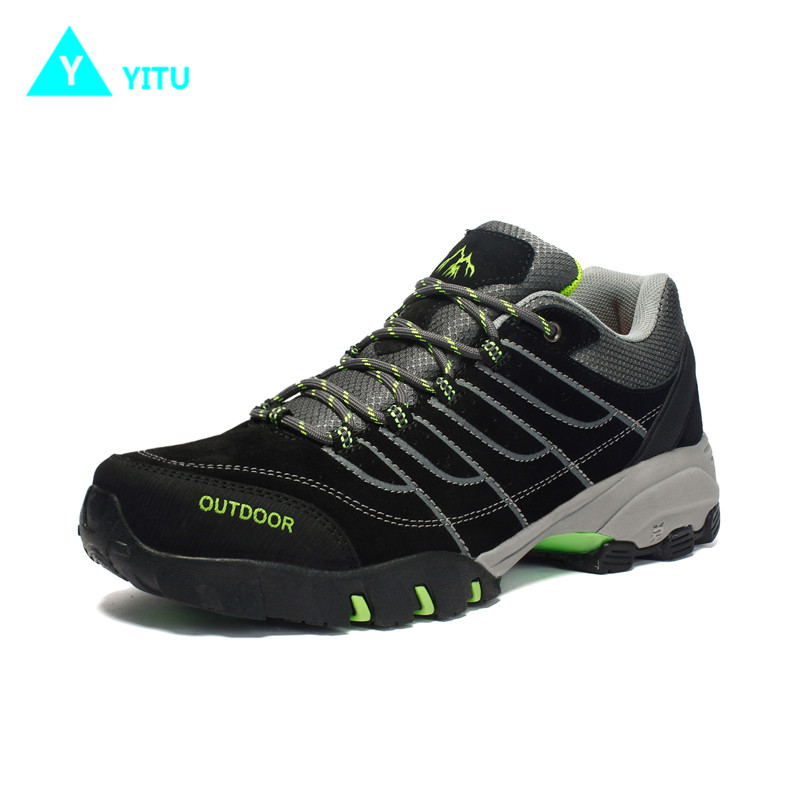 YITU Breathable Hiking Shoes For Men Outdoor Sports Shoes For Autumn Hunting Camping Men Climbing Sneakers Large Size 39-44 велосипед electra cruiser lux 3i ladies 2015