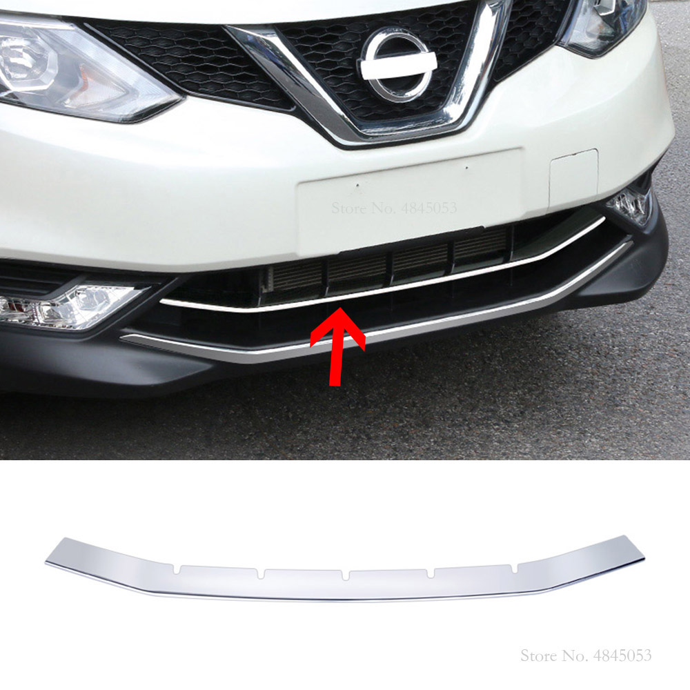 AITWATT pour Nissan Qashqai 2016 2017 2018 ABS Chrome avant pare-chocs central course calandre moulures capots de bordure voiture style 1 pièces