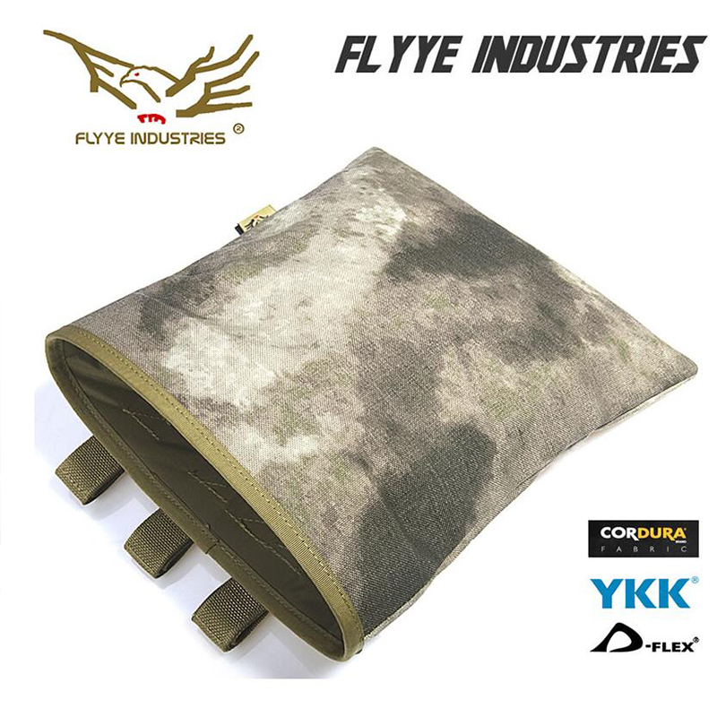 FLYYE Airsoft Sports Military MOLLE Pouch Bag Recovery Drop Dump Pouch camping modular combat Pack Outdoor Equipment M013