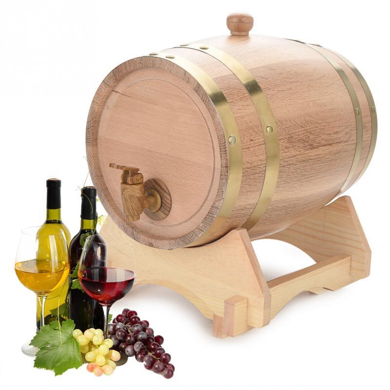 1.5L/3L/5L/10L Oak Barrels Brewing Decorative Wine Barrel Keg Bucket Brewage Hotel Restaurant Exhibition Display Wooden-in Beer Brewing from Home & Garden    1
