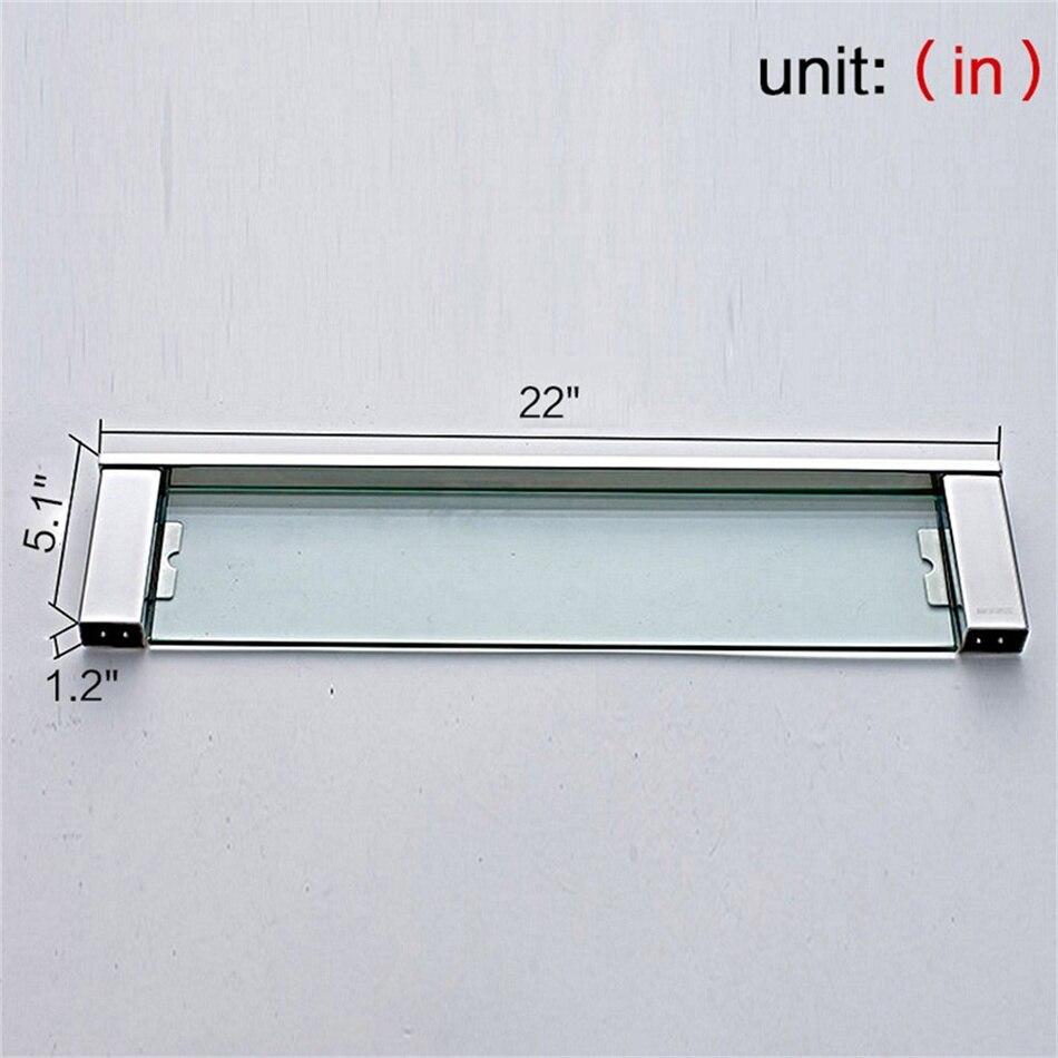 Leyden Hanging Glass Shelf Storage Modern Polished Chrome Square ...