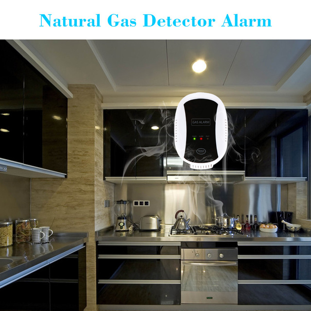 Top Quality High Sensitive Combustible Natural Gas Leakage Detector Alarm Sensor Carbon Monoxide Alarm Detector for Home Kitchen