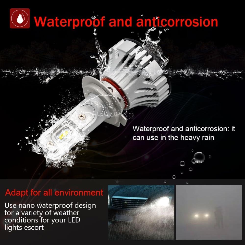 Safego 36 W H11 H4 H7 Voiture phare LED Kit-Safego H8 H9 9005 9006 Ampoules 2 LED très brillante Puces 6000Lm Auto Ampoule Blanc 6000 K - 2