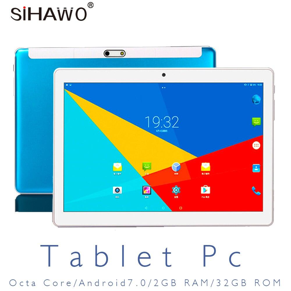 Nouveau 10 pouces tablette PC appel téléphonique 3G 4G LTE Android 7.0 Octa Core 2 GB RAM 32 GB ROM WiFi GPS tablettes 10.1 IPS 1920*1080 + cadeaux OTG