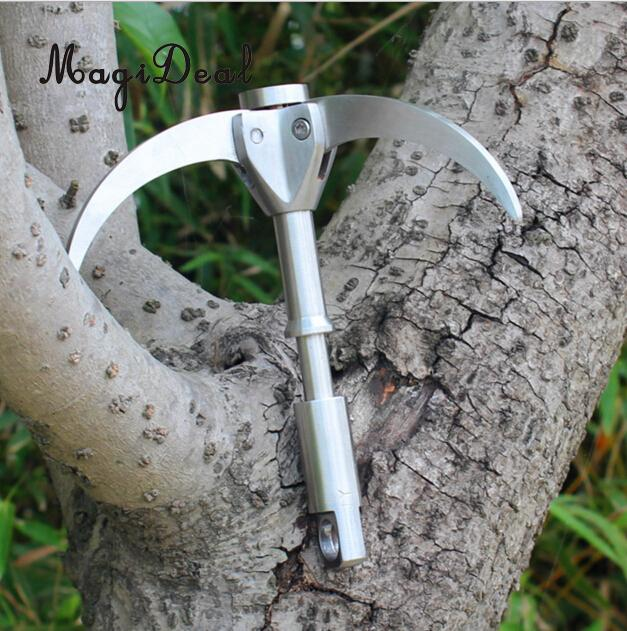 MagiDeal Steel Rock Climbing Hooks Outdoor Mountaineering Climbing Claw Carabiner Grappling Hook Travel Kit for Survival Escape