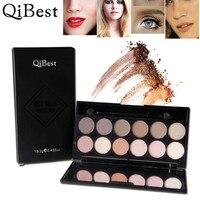 Qibest Beauty Make Up Paleta De Sombra Eyeshadow Pallete Cosmetic Makeup Blusher 12 Colors Concealer Eye