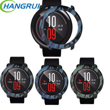 Military camouflage watch case for xiaomi huami amazfit pace protect cover cases smartwatch frame protector replace amaz shell(China)