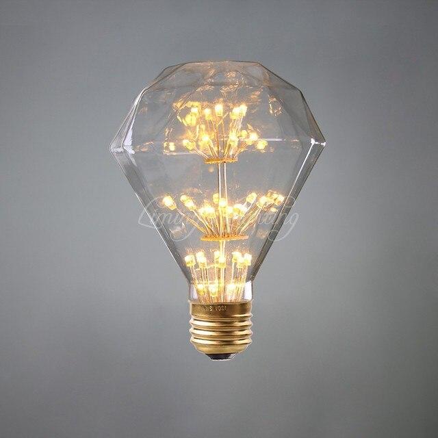 G95 Diamond Star Starry sky lamp LED Edison Filament Light bulb E27 220V 3W Energy saving Firework led bulb Christmas gift decor
