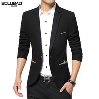 BOLUBAO 2017 New Brand Spring Masculine Blazer Men Fashion Slim Fit Suit Men Casual Solid Color