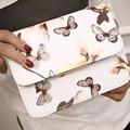 2017 Mulheres Da Moda Floral Impresso Quadrado Saco corpo Cruz Ombro Messenger Bags Mulheres Pu Bolsa De Couro Bolsa Feminina P1187