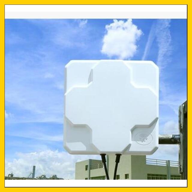 2 22dBi outdoor 4G LTE MIMO antennaLTE dual polarization panel antenna SMA Male connector 5 M