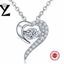 Yl precio cristales oro blanco plateado joyería al por mayor del corazón colgante de collar de regalo del día de san valentín de amor nave de ee. uu.