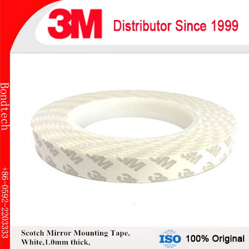 Free shipping 3M double sided PE foam tape for Car Decoration/Furniture/Construction white color,1.0mmT 18mmX30M/roll