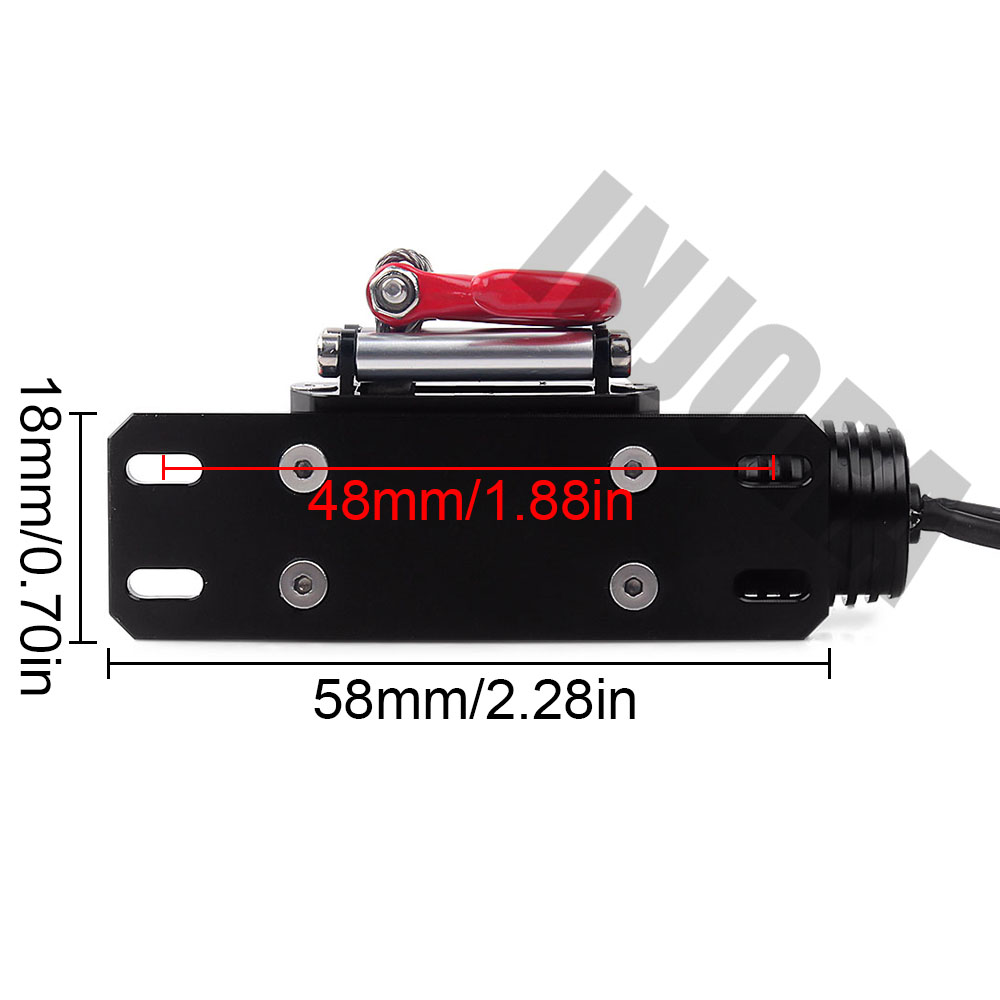 Image 3 - INJORA RC Car Metal Steel Wired Automatic Simulated Winch for 1/10 RC Crawler Car Axial SCX10 90046 D90 Traxxas TRX4-in Parts & Accessories from Toys & Hobbies