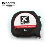 KAPRO 608 regla de acero cinta 5 metros de medición 8 metros caja gobernante Mini tire del pie herramientas de Medición de Alta precisión