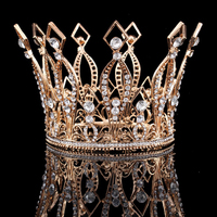 Rose Gold/Gold/Silver Bridal Crown Tiaras King Queen Crystal Rhinestone Wedding Prom Party Crown Hair Accessories Hairbands