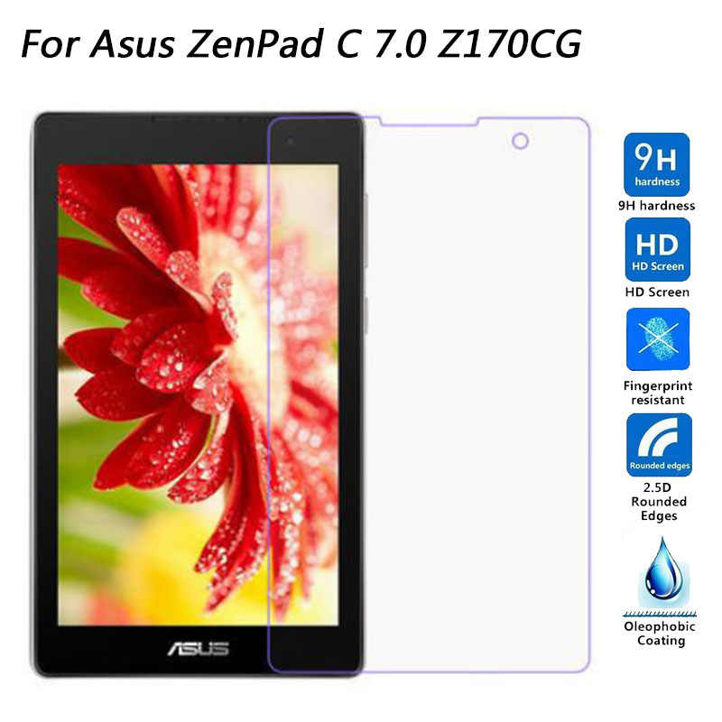 "Tempered Glass For ASUS ZenPad C 7.0 Z170 Z170CG Z170CX Z170C P01Y P01Z 7"" inch Screen Protector 9H Toughened Protective Film"