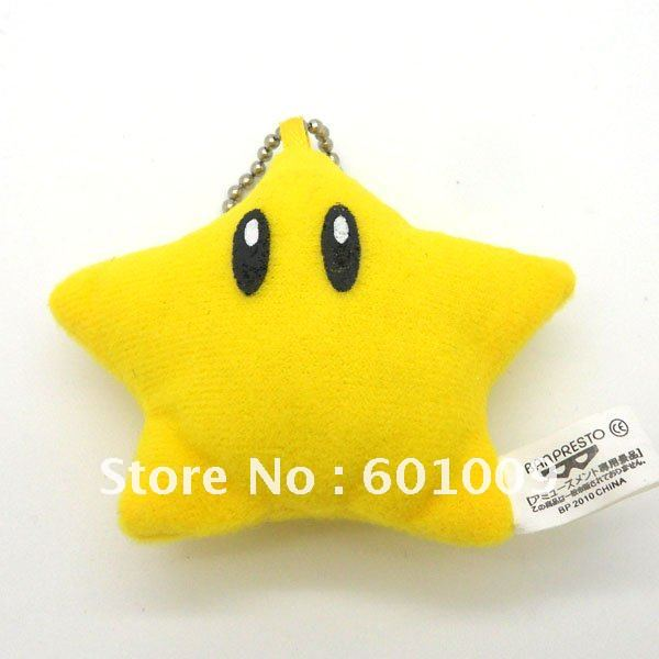 """100/лот высококачественный мягкий плюшевый Супер Марио Bross """" звезда брелок с фигуркой плюш розничная"""