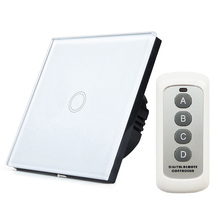 New Smart Home Automation EU Standard WIFI RF433 Remote Controls 1 Gang Wall Switch  Lights Switch VS Livolo Touch Switch