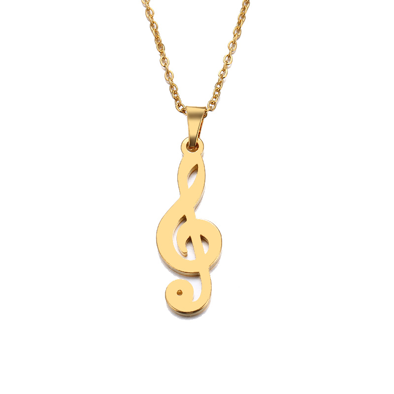Cacana Necklace For Music Lovers Violin Clef IMG_4492
